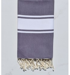 beach towel flat pale dark purple