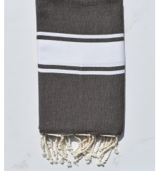beach towel flat bis gray