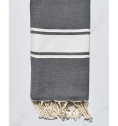 beach towel flat slate gray, clear