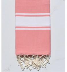 Flat clear pink nasturtium fouta