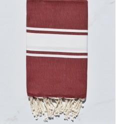 beach towel flat burgundy red