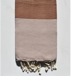 Beach towel Honeycomb copper color