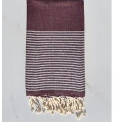 lurex toalha de praia plana roxo escuro