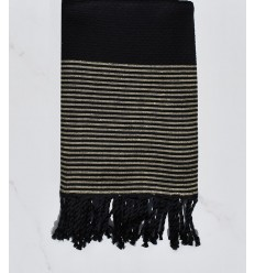 black honeycomb with golden lurex fouta
