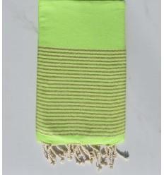 Plate lurex vert fluo