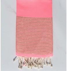 Plate lurex rose fluo