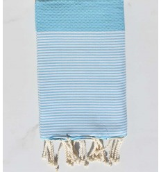 Beach towel Honeycomb light blue maya
