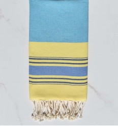 5 colors blue, light blue, yellow, blue jeans and pink fouta