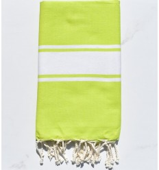 beach towel  flat chartreuse green