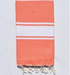 flat coral beach towel