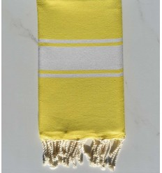 beach towel flat  yellow fluo bright