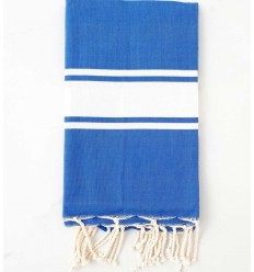 beach towel flat blue