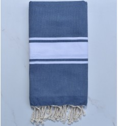 beach towel flat blue turquin way