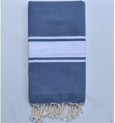 Plate couleur bleu turquin moyen