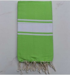 Beach towel flat lime green
