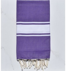 Beach towel flat purple amethyst