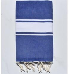 Beach towel flat blue jeans