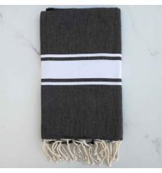 Beach towel flat dark slate gray
