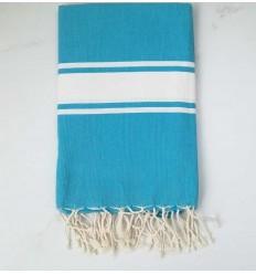 Beach towel flat blue atoll