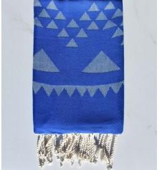 Fouta bohémian bleu