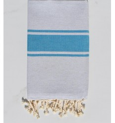 flat beach towel turquoise green recycled cotton