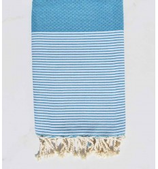 Beach towel honeycomb steel blue