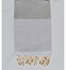 honeycomb light gray beach towel