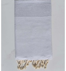 Beach towel cotton recycled honeycomb gray apus