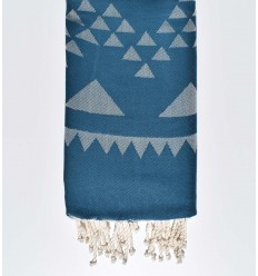 bohemian beach towel peacock blue