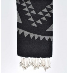 bohemian beach towel black