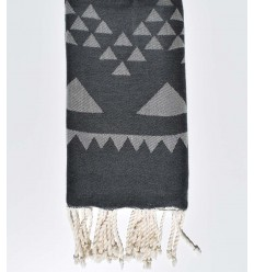 bohemian beach towel slate gray