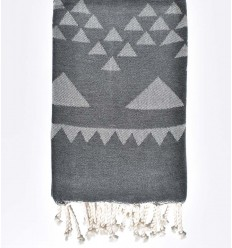 bohemian beach towel charcoal gray
