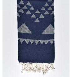 bohemian beach towel blue night