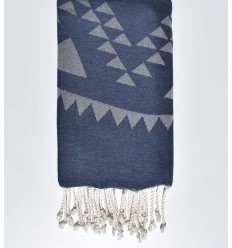 bohemian beach towel blue turquin