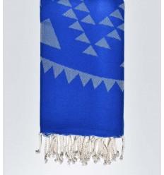 fouta bohémian bleu roi