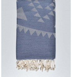 bohemian beach towel slate blue
