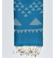 Beach towel bohemian light smoked blue