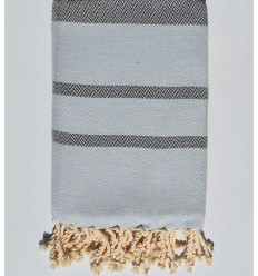 Beach towel chevron smoke and slate color