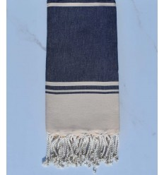Beach towel RAF-RAF blue jeans and pale yellow