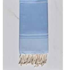 fouta RAF-RAF bleu bleuet et bleu ciel