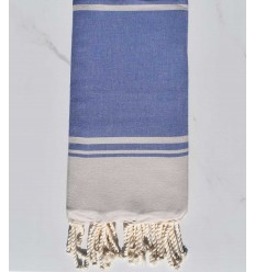 Beach towel RAF-RAF lavender blue and fishing