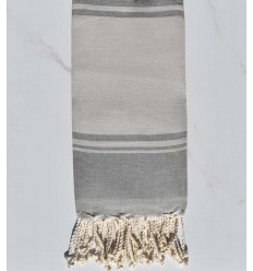 Beach towel RAF-RAF bisque and gray