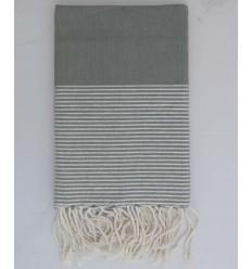 Strandtuch lurex flach grau mit silberner Lurexfaden