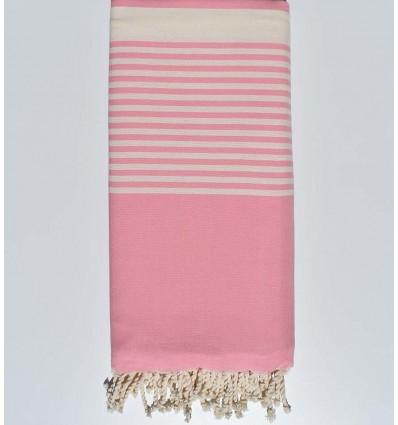 cubre cama bebe rosa