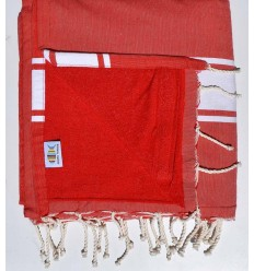 beach towel doubled sponge red