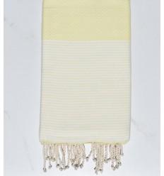 beach towel yellow butter