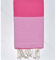 Beach towel pink carmine