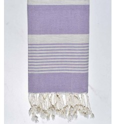 beach towel Arthur purple with stripes