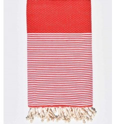 Honeycomb red fouta
