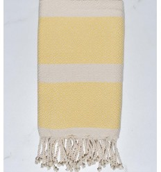 chevron light yellow pale beach towel